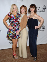 Margot Elise Robbie, Kelli Garner and Karine Vanasse at the TCA 2011 Summer Press Tour in California.