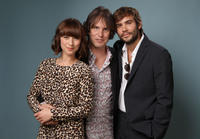 Karine Vanasse, director Leonard Farlinger and Rossif Sutherland at the portrait session of