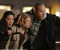 Sister Rebeka (Michelle Yeoh, left), Aurora (Melanie Thierry) and Toorop (Vin Diesel) in