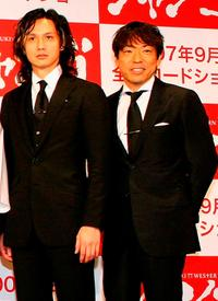 Masanobu Ando and Teruyuki Kagawa at the promotion of
