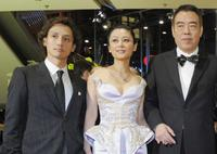 Masanobu Ando, Chen Hong and Chen Kaige at the screening of