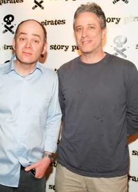 Todd Barry and John Stewart at the Story Pirates