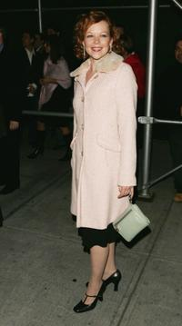 Emily Bergl at the play opening of Roundabout Theatre Company's