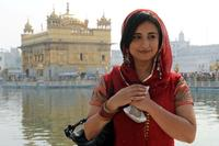 Divya Dutta at the Sikh shrine