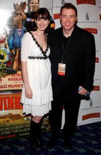 Anne Hathaway and Cory Edwards at the premiere of