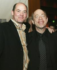 David Koechner and JK Simmons at the afterparty premiere of