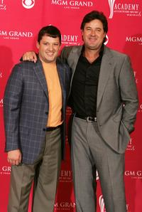 Tony Stewart and Vince Gil at the 41st Annual Academy Of Country Music Awards.