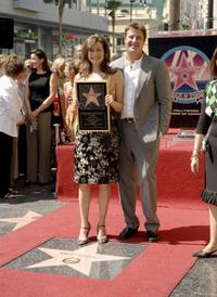 Amy Grant and Vince Gil at the Hollywood Walk of Fame.