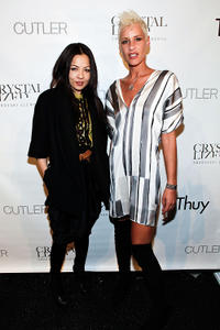 Designer Thuy Diep and Eve Salvail at the Thuy New York Fall 2010 show during the Mercedes-Benz Fashion Week.
