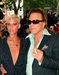 Eve Salvail and Mickey Rourke at the UK premiere of