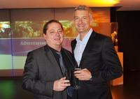 Jurgen Tarrach and Dominic Raacke at the ARD Dinner.