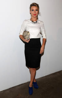 Natalie Zea at the Libertine during the Spring 2013 Mercedes-Benz Fashion Week in New York.