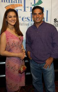 Preity Zinta and Gotham Chopra at the opening night of the Bollywood Film Festival.