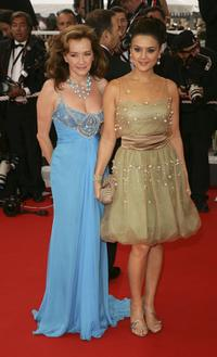 Chopard President Caroline Gruosi-Scheufele and Preity Zinta at the premiere of