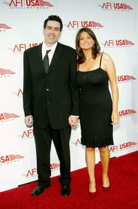 Adam Carolla and Lynette Paradise at the 33rd AFI Life Achievement Award tribute to George Lucas.