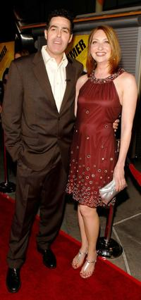 Adam Carolla and Heather Juergensen at the premiere of