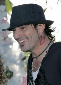 Tommy Lee at the annual party to thank movie, television and music star friends and his co-workers for their charitable work.