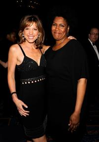 Hannah Storm and Nancy Giles at the 34th Annual AWRT Gracie Awards Gala.