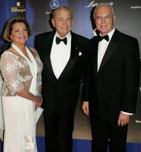 Nadja Tiller, Walter Giller and Franz Beckenbauer at the 58th Annual Bambi Awards.