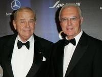 Walter Giller and Franz Beckenbauer at the 58th Annual Bambi Awards.