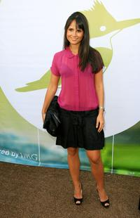 Jordana Brewster at the Mercedes Benz Fashion Week.