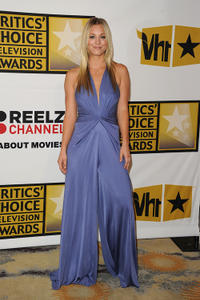 Kaley Cuoco at the Critics' Choice Television Awards in California.