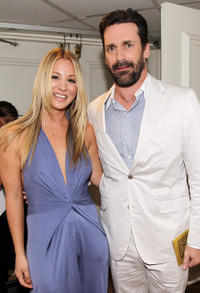 Kaley Cuoco and Jon Hamm at the Critics' Choice Television Awards in California.