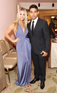 Kaley Cuoco and Wilmer Valderrama at the Critics' Choice Television Awards in California.