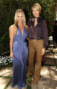 Kaley Cuoco and Jenna Elfman at the Critics' Choice Television Awards in California.
