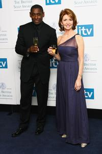David Harewood and Jane Asher at the British Soap Awards 2008.