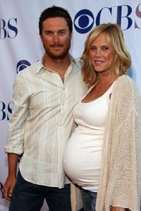 Oliver Hudson and wife Erinn Bartlett at the CBS Summer