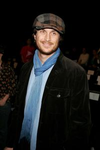 Oliver Hudson at the Mercedes-Benz Fashion Week.