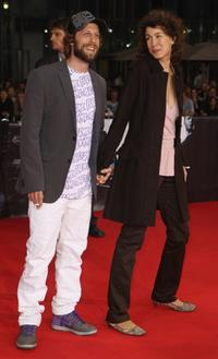 Oliver Korittke and his girlfriend Melly Andres at the German premiere of