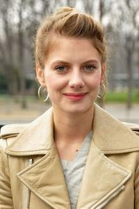 Melanie Laurent at the Balenciaga Ready-to-Wear A/W 2009 fashion show during the Paris Fashion Week.