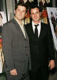 Michael Showalter and Justin Theroux at the premiere of