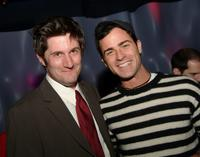 Michael Showalter and Justin Theroux at the afterparty screening of