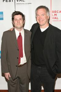 Michael Showalter and Jonathan Sehring at the screening of