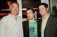 Jonathan Sehring, Sam Rockwell and Michael Showalter at the premiere of