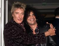 Rod Stewart and Slash at the 27th Annual Clive Davis Pre-Grammy party.