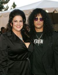 Perla Ferrar and Slash at the 32nd Annual American Music Awards.