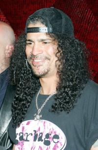 Slash at the grand opening of Rande Gerber's Cherry Nightclub.