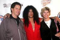 Steve Lauletta, Slash and Guest at the Miller Rock Thru Time Celebrating 50 Years of Rock Concert.