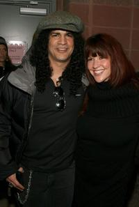 Slash and Perla Ferrar at the premiere of