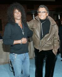 Slash and Robert Evans at the party celebrating the 5th Anniversary of