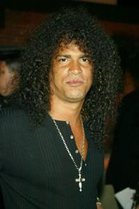 Slash at the party celebrating the 5th Anniversary of
