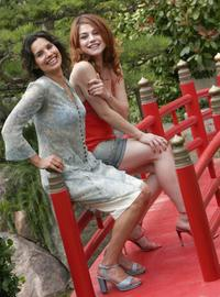 Noemie Kocher and Emilie Dequenne at the photocall of