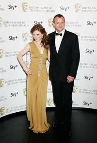 Emilia Fox and Hugh Bonneville at the British Academy Television Awards 2008.