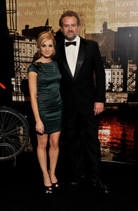 Joanne Froggatt and Hugh Bonneville at the Specsavers Crime Thriller Awards 2010 in London.