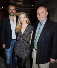 Hugh Bonneville, Joanne Froggatt and Julian Fellowes at the screening of ITV's Downton Abbey in London.