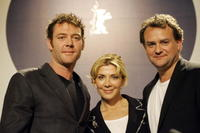 Marton Csokas, Natasha Richardson and Hugh Bonneville at the press conference of the International Berlin Film Festival Berlinale.